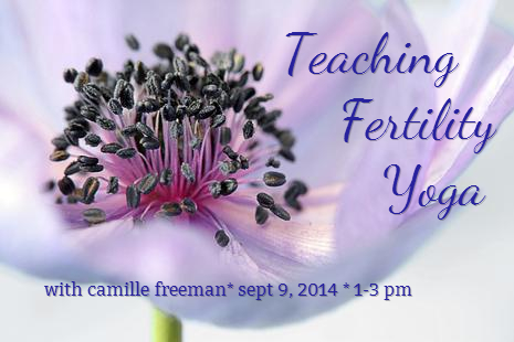 teaching fertility yoga with camille freeman