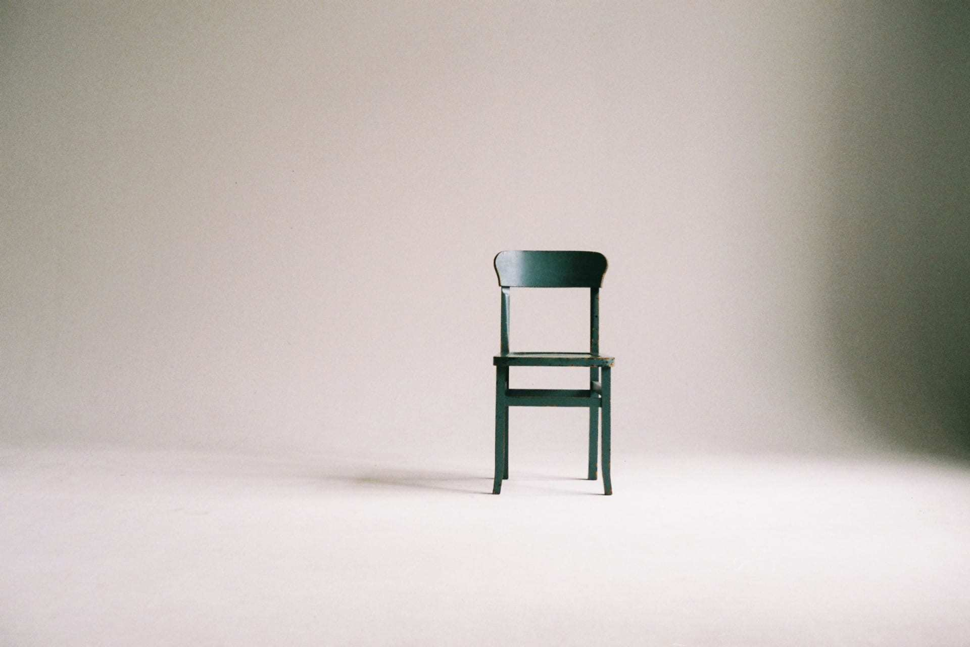 an empty chair